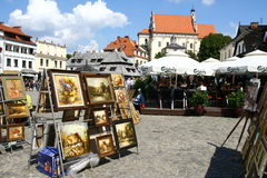 Market square in Kazimierz Royalty Free Stock Image