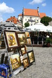 Market square in Kazimierz Royalty Free Stock Images