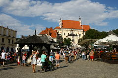 Market square in Kazimierz Stock Images