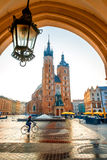 Market square in Krakow Stock Photo