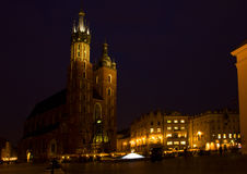 Market square at Krakow, Poland Royalty Free Stock Photos