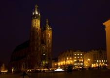 Market square at Krakow, Poland Royalty Free Stock Photos