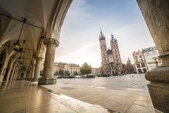 Market square of Krakow, Poland, Europe Stock Photos