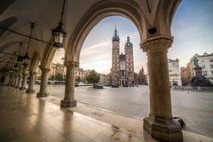 Market square of Krakow, Poland, Europe Stock Image