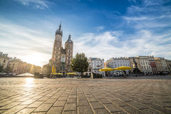Market square of Krakow, Poland, Europe Stock Photography