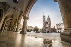 Market square of Krakow, Poland, Europe Stock Photo
