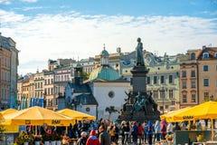 Market square in Krakow Stock Photos