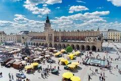 Market square in Krakow, Poland Stock Photography