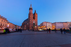 Market square in Krakow, Poland Royalty Free Stock Photography