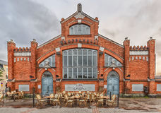 Market Square, located in front of the Market Hall  in Oulu. Fin Stock Photography