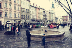 Market Square in Lviv. Royalty Free Stock Photography