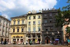 Market square, Lviv, Ukraine Stock Image