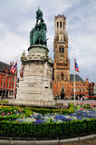 Statue on Markt, Bruges, Belgium Royalty Free Stock Photos