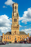 Market Square Markt in Bruges, Belgium Stock Photo