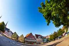 Market Square Marktplatz in Esslingen, Germany Stock Image