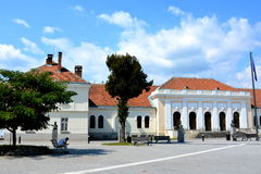 Market Square in Medieval fortress Alba Iulia, Transylvania Royalty Free Stock Images
