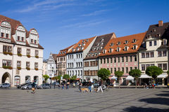 The Market square in Naumburg; Saxony-Anhalt, Germany Stock Photography