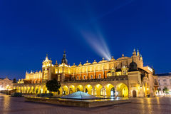 Market Square at night in Krakow. Stock Images