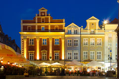 Market Square at night. Poznan. Poland Royalty Free Stock Images