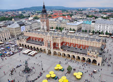 Market square of old town of Krakow Stock Photo