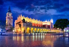 Market square old town in Krakow Poland Royalty Free Stock Image