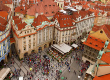 Market square  in old town of Prague Stock Images