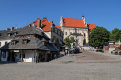 Market square and Parish Church in Kazimierz Dolny, Poland Royalty Free Stock Images