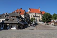 Market square and Parish Church in Kazimierz Dolny, Poland Royalty Free Stock Images