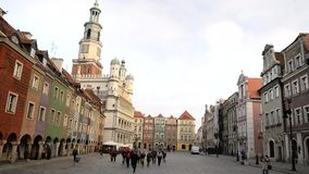 Market square, Poznan stock video
