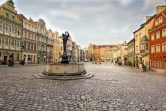 Market square, Poznan Stock Photos