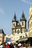 Market Square in Prague 12. Prague, an exceptional tourist destination. Beautiful buildings and monuments in the city center. Old Town with the city and houses Royalty Free Stock Images