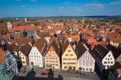 Market square of Rothenburg ob der Tauber, Germany Stock Images