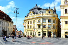 Market Square in Sibiu, European Capital of Culture for the year 2007 Stock Photo