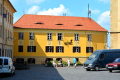 Market square in Sibiu, European Capital of Culture for the year 2007 Stock Images