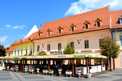 Market square in Sibiu, European Capital of Culture for the year 2007 Royalty Free Stock Photos