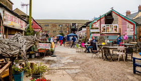 Market Square. A small market bazaar, located in a holiday resort,  in a seaside town, selling local crafts, antiques, bric a brac and refreshments Stock Photography