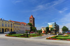 Market square in a small town Royalty Free Stock Images