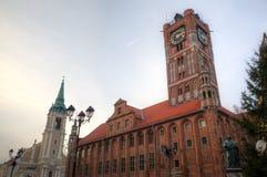 Market square of Torun, Poland Royalty Free Stock Photography