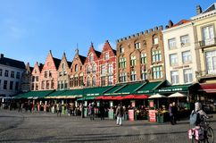 Market square and town center, Bruges Belgium Stock Photography