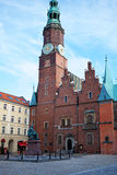 Market Square and the Town Hall in Wroclaw, Poland Stock Photos