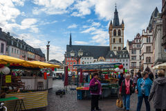 Market square in Trier Royalty Free Stock Photos