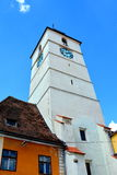 Market Square. Typical urban landscape in Sibiu, Transylvania. Stock Photos