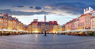 Market square in Warsaw, Poland Royalty Free Stock Image