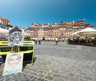 Market square in Warsaw, Poland, Europe. Stock Photos
