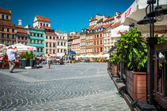Market square in Warsaw, Poland, Europe. Stock Images