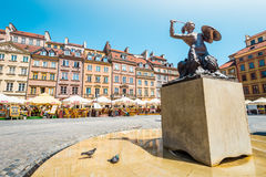 Market square in Warsaw, Poland, Europe. Royalty Free Stock Image