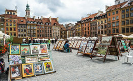 Market square in Warsaw Royalty Free Stock Image