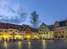 Market square of Weimar in Thuringia (Germany) Stock Photography