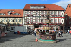 Market square in Wernigerode Royalty Free Stock Photos