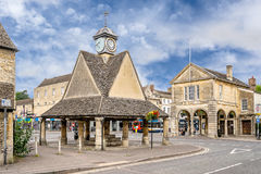 The market square in Witney. The market square in the Cotswolds village of Witney stock photos